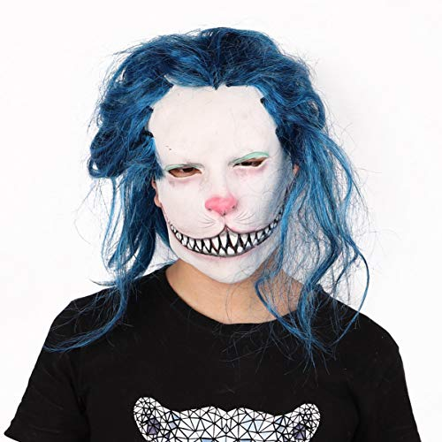 Das Männlich Kobold Kostüm - Corneliaa Halloween Maske Terrorist Kostüm Ball Dämon Gas Maske Zombie Undead Latex Kopfbedeckung Party Kultur Maske