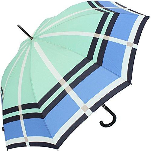 Knirps Damen Automatik Stockschirm mit UV-Protection - Cage blue