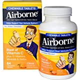 Airborne - Chewable Tablets with Vitamin C - Citrus - 64 Tablets