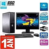 Dell Optiplex 780 DT Display 22 Zoll Intel E5300 RAM 8 GB 960 GB SSD WiFi W7