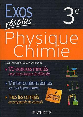 Physique Chimie : 3e