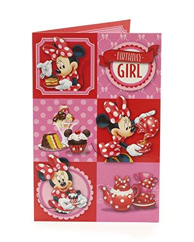 Carlton 418990-0Disney Minnie Maus Geburtstag Girl Karte