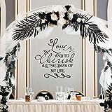TYLPK Zu lieben und alle Tage meines Lebens zu schätzen Eheversprechen zitieren Wandtattoo für...