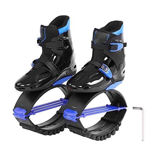 Alomejor Springen Schuhe Schraubendreher Durable Abnehmen Körper Känguru Schuhe Sport Fitness Bouncing Schuhe für Frauen Männer Geschwindigkeit Training(42-44-Schwatz Blau)