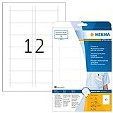 Herma 9010 Einsteckkarten f. Plastik Namensschilder u. Ausweishüllen, 300 Stück (75 x 40 mm) 25 Blatt A4 Karton weiß, bedruckbar, nicht klebend