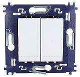 bticino 790040033-Interruptor conmutador doble.