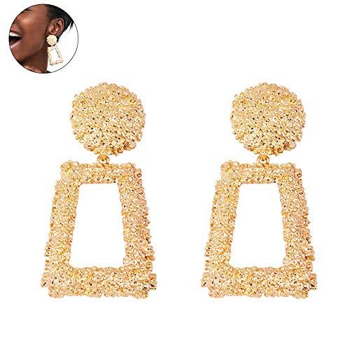 Frauen Maxi Drop Ohrringe große geometrische Anhänger Ohrringe Statement Schmuck weibliche Bijoux 1 Paar - Gold Hochzeit (Bijoux 1 Licht)