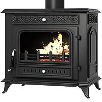 MODERN LIFE Wood Burning Stove Multifuel Woodburner Log Burner Cast iIron Fireplace