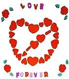 alles-meine.de GmbH 46 tlg. Set Gel Sticker / Sticker - Aufkleber / Wandtattoo / Fensterbild - Liebe Herzen Love Fenster Bad - Wasserfest - Selbstklebend Wandsticker Glassticker