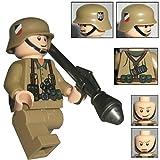 Custom Brick Design Figur - WW2 Serie - Deutscher Soldat Afrikakorps