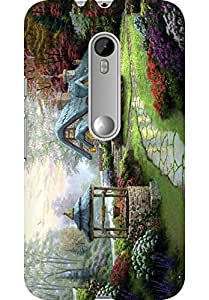 Amez Designer Printed 3D Premium high Quality Back case Cover for Moto G3 (Sweet Home)