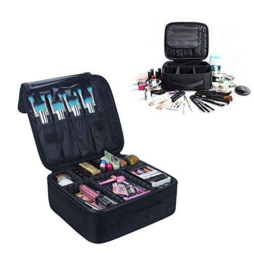 Pulchram Kosmetiktasche Portable Reise Make Up Tasche, Pulchram Make-up Pinsel Organizer Tasche mit Reißverschluss wasserdicht große Kulturbeutel für Frauen & Männer