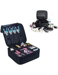 Kosmetiktasche Portable Reise Make Up Tasche, Pulchram Make-up Pinsel Organizer Tasche mit Reißverschluss wasserdicht große Kulturbeutel für Frauen & Männer