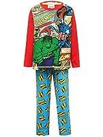 Marvel Comics Superhero Character Print Long Sleeve Cotton Top Pyjama Set