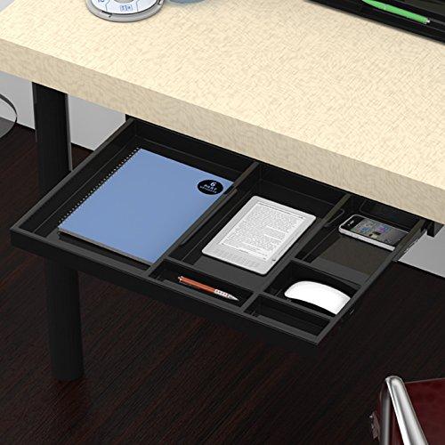 SO-TECH® Utensilien-Auszug Schubladenschiene Vollauszug 566 x 390 x 36 mm Schreibtischauszug schwarz