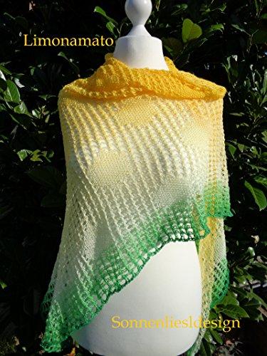 Limonamato: Strickanleitung (Farbverlaufstücher selbstgestrickt 9) (Sommer Stricken Muster)