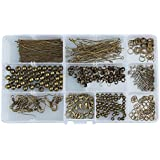 Kit bisuteria 500 pcs color bronce crear y diseñar tus propios collares pulseras pendientes gargantillas accesorios broches cierres anillas selladores de OPEN BUY