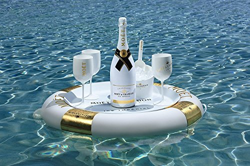 Moet & Chandon Ice Imperial Schwimmende Champagner Floating Bar Geschenk Set Limited Edition (1 x 1.5 l)