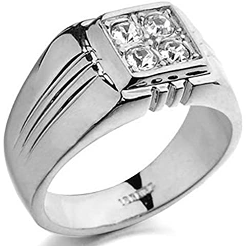 SaySure - 18K Real Gold Plated Men Ring With AAA+ CZ (SIZE : 10)