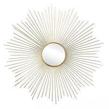 Black Velvet Studio - Star Spiegel, Star Metall, color golden. Shaped Sonne. Nordischen Stil. 64x64x2 cm.. NORDIC STYLE. Passend für diesen Trend, die natürlichen Materialien, geometrische Muster, vintage-inspirierte und neutrale Farben enthält. DESI...