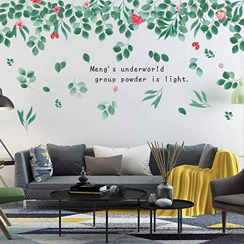 grün Blätter Wand Aufkleber Moderne Kunst Aufkleber Aufkleber für Wohnzimmer Wand Abziehbilder Home Decor Wohnzimmer ()