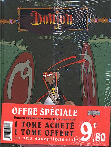 Donjon Crépuscule : Pack en 2 volumes : Tome 101, Le Cimetière des dragons ; Tome 102, Le Volcan des Vaucanson
