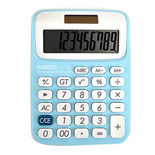 Monique Standard Funktion Elektronischer Taschenrechner Tischrechner 10 Digit 2017 Blue