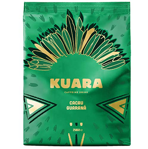 KUARA Kakaopulver mit natürlichem Koffein aus Guarana | belebende Trinkschokolade | Wach Koffein-Kakao - 250g (Wach Schokolade)