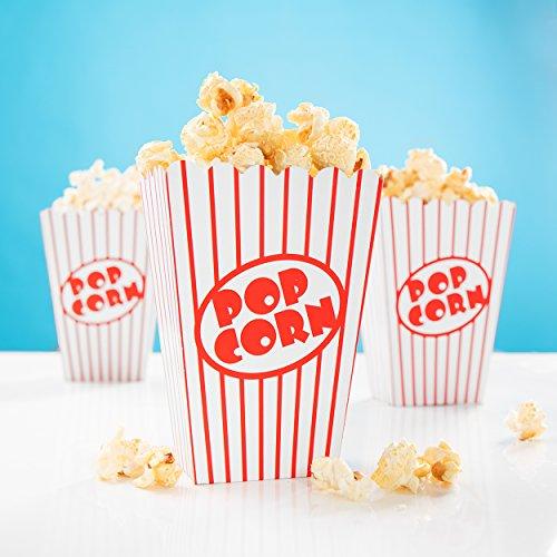 PartyMarty 24x Snackbox Popcorn Tüte Happy Dots - wunderschöne Boxen mit Punkten für Snacks, Süßigkeiten & Geschenke GmbH® (Retro Popcorn) - Popcorn Beschichtete