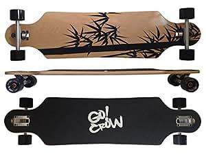 """MAXOfit® Deluxe Longboard """"Crow No.12"""", 103 cm, Drop Through"""