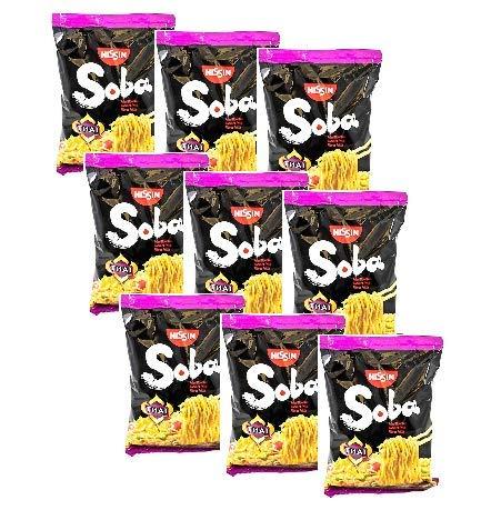 Nissin Soba Noodles di Grano Fritti al Gusto Salsa Thai - 9 x 109 Gram