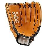 Vbestlife Guantone da Baseball, Adulti Bambini Guanti da Baseball Addensati in PVC Praticare Guanti da Competizione(12.5inch-Marrone)