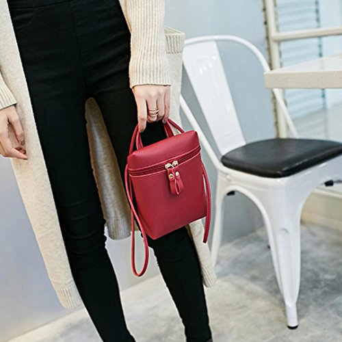Damen Tasche, Huihong Shopper Tasche Mode Handtasche ReißVerschluss Tasche Schultertasche Tote Frauen UmhäNgetasche Münztasche Handytasche FüR Freundin Geschenk Rot
