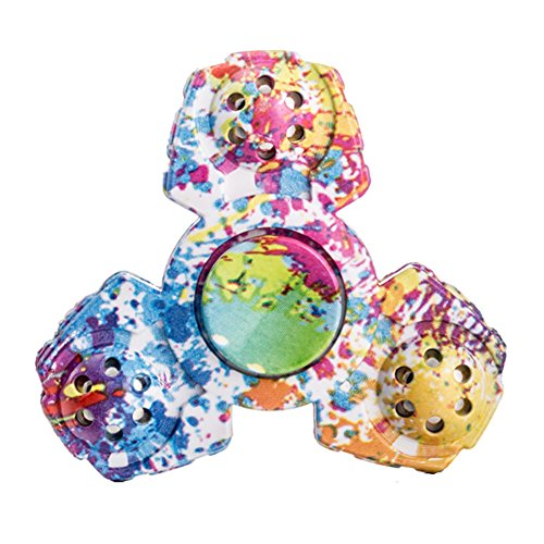 Walwh Colourful Camouflage Triangle Fidget Spinner EDC Stress Relief Toy