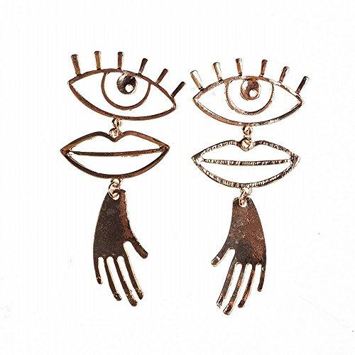 Classic quality Schön Schmuck Malta in die Europäische und amerikanische Brille Lippen hand Form gold Ohrringe Zubehör.