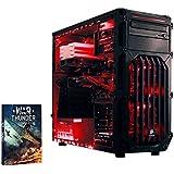 VIBOX Cerberus 1–für Gaming-PC (Intel K G3258, 8GB RAM, 1TB Festplatte, Nvidia Geforce GTX 750Ti) rot