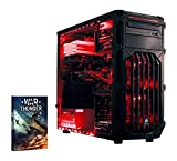 Vibox Cerberus 8 Unité centrale Gaming Rouge (Intel Pentium dual Core, 16 Go de RAM, 120 Go, Nvidia GeForce GTX 750 Ti, Windows 10)