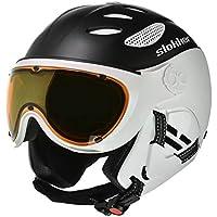 Balo slokker - casco de esquí con visera - Foto Croma (tallas) mesa & antiempañamiento, invierno, color  - negro, tamaño 52-54