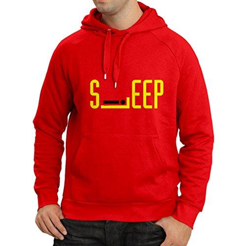 over Schlaf - Nicht stören Zeichen - Lustig Faul Tag Zitat, Müde - Humor Geschenkideen (X-Large Rot Gelb) (Am Besten In Tracht)