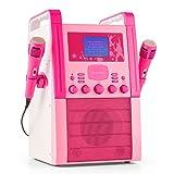Prezzo auna KA8P-V2 PK Impianto Karaoke con display a colori e lettore multimediale (2 microfoni dinamici inclusi, uscita video, altoparlanti a banda larga integrati) - rosa