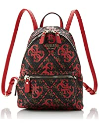 a16016623a Guess Leeza Backpack Zaino Donna, Multicolore (Red Multi) 22x29x10.5 cm (