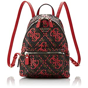 51AMYyUJByL. SS300  - Guess - Leeza Backpack, Mujer, Multicolor (Red Multi), 22x29x10.5 cm (W x H L)