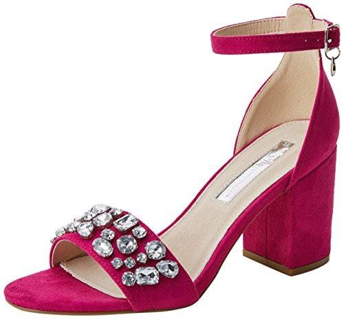 XTI 30755, Zapatos con Tacon y Correa de Tobillo para Mujer, Rosa Fucsia, 39 EU