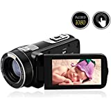 """Video Camera Camcorder Full HD 1080p @30fps 24.0MP Camcorders 3"""" Touch Screen Digital Camera 16x Digital Zoom Video Recorder"""