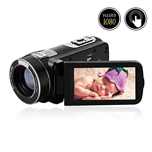 Videokamera Camcorder Full HD 1080p @30 fps 24,0 Megapixeln Digitalkamera 3,0 Zoll Touchscreen 16X Digitalzoom