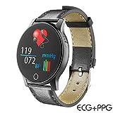 RENYAYA North Edge Schermo a Colori Smartwatch ECG + PPG Frequenza cardiaca Monitor della Pressione arteriosa Fitness Attiva Tracker Multi Sport Mode IP67 Impermeabile Wristband per iOS Android,Black