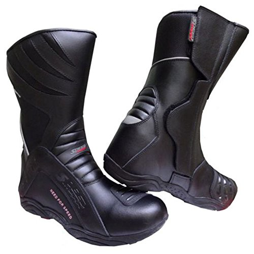 Speed Max High Tech, scarponi da motociclista da uomo, in pelle, CE Touring, taglia 42