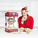 Klarstein Volcano Popcornmaschine Popcorn Maker (300 Watt Rührwerk, Edelstahl-Topf, Innenbeleuchtung, ca. 60 l/h) rot-weiß - 2