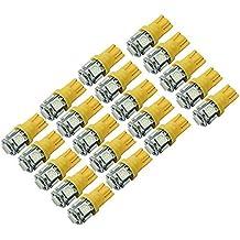 WINOMO T10 W5W de 20pcs 5050 5 SMD LED coche luz Blub Auto lámpara W5W 2825 158 192 168 194 (amarillo)