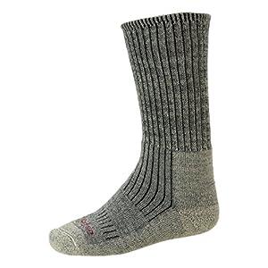 bridgedalemen's merinofusion™ trekker socks  - stone grey, uk 6-8.5